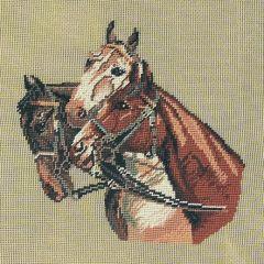 178 mf Drei Pferdeköpfe 18/18 inch 29x27 cm
