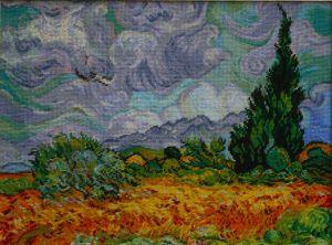1088 TT Weizenfeld mit Zypressen van Gogh