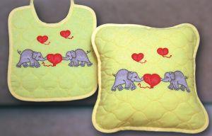 FHA 2107.A3030 Kissen 3 Elefanten  Vorgez. 30x30 cm