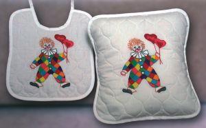 FHA 2108.A3030 Kissen Clown  Vorgezeichnet 30x30 cm