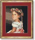 WO 734 TT Kind mit Blüten 34x45 cm