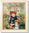 WO 762 TT Auf der Terasse von Renoir 52x43 cm