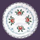 FHA 2100.B30 rd Deckchen Röschen  Vorgez. 30 cm rund