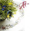 FHA 9890.C9090 Blütenkranz   Komplettpack. 90x90 cm