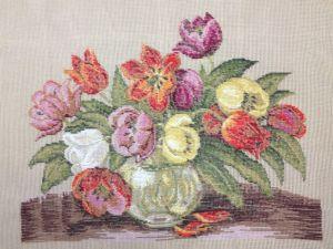 1144 DTW Tulpen in Vase  52x39 cm