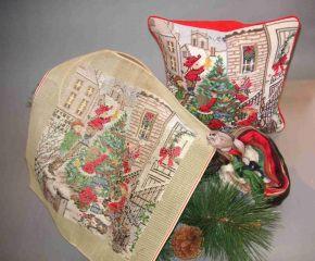 89099 TT Kissen Weihnachtsmotiv 18/18 inch  Design 35x35 cm