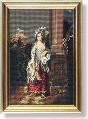 133 TT Frau an der Säule 30x20 cm
