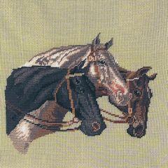177 mf Drei Pferdeköpfe 18/18 inch 36x36 cm