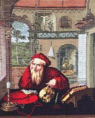 530 T Heiliger Hieronymus / St. Jerome in seinem Studio  46x37 cm