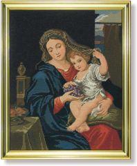 624 TT Madonna mit Weintrauben  50x40 cm