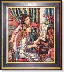 906 TT Junge Mädchen am Klavier von Renoir 57x49 cm