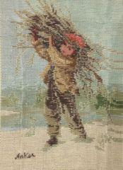 1021 TT Knabe mit Reisigbündel von Anker 24x32 cm