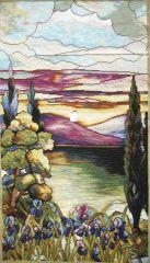 1037 TT Seelandschaft /Tiffany 50x89 cm