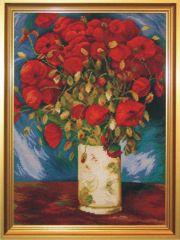 1052 TT Vase mit roten Mohnblumen von Renoir 40x54 cm