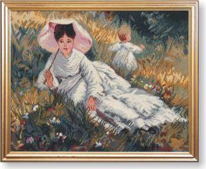 WO 769 TT Frau mit Sonnenschirm von Renoir 49x62 cm