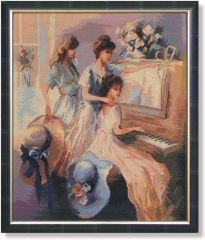 WO 792 TT Drei Mädchen am Klavier  57x48 cm