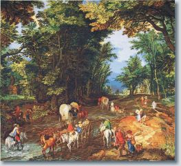 WO 493 TT Waldstraße v.Brueghel 105x95 cm