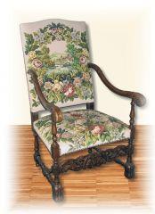 1001 Sessel Weißpolster Louis XIV