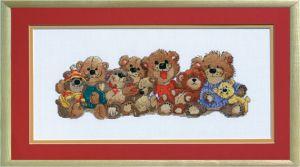 JL 038-0180 Janylnn Stickbild Bears of Duckport