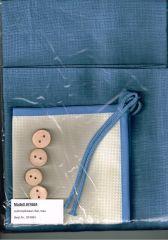 FHA 0018 Fb. 4 blau 48x48 cm Aufknöpfkissen-Set