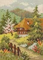 GS1318-02 Häuschen 13x18 cm