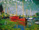 1087 TT Die roten Boote v.Argenteuil von Monet 60x50 cm