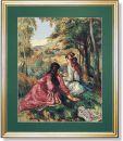 WO 796 TT Junge Mädchen a.d. Wiese von Renoir 50x63 cm