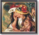 WO 797 TT Zwei lesende Mädchen von Renoir 50x46 cm