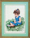 JL 029-0020 Janlynn Stickbild Gänseblumen-Mädchen